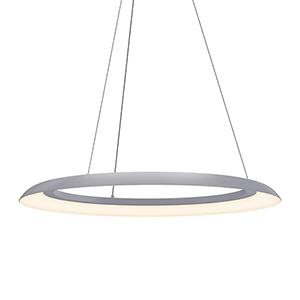 Torus Dove Gray 32-Inch One-Light LED Pendant