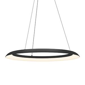 Torus Satin Black 32-Inch One-Light LED Pendant