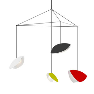 Papillons Multicolor Four-Light Large LED Pendant