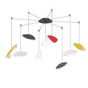 Papillons Multicolor Nine-Light Swag LED Pendant