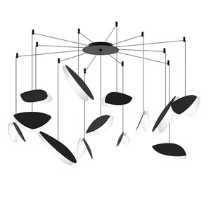 Papillons Satin Black 13-Light Swag LED Pendant
