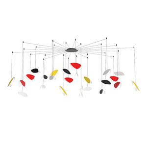 Papillons Multicolor 24-Light Swag LED Pendant