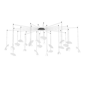 Papillons Satin White and Black 24-Light Swag LED Pendant