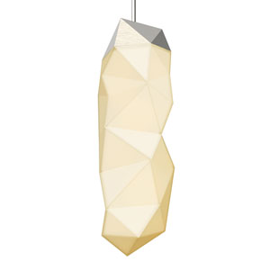 Facets Satin Nickel LED Eight-Inch Mini Pendant