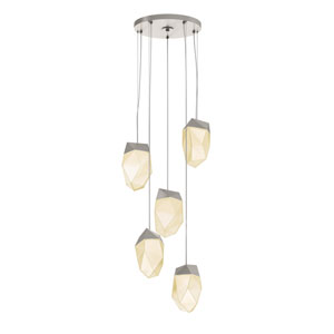 Facets Satin Nickel LED 17.5-Inch Pendant