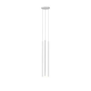 Light Chimes Satin White 24-Inch 3-Light LED Mini Pendant