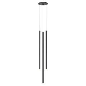 Light Chimes Satin Black 6-Inch 3-Light Assorted LED Mini Pendant