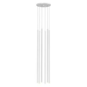 Light Chimes Satin White 32-Inch 6-Light LED Pendant