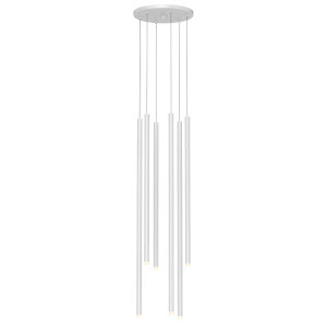 Light Chimes Satin White 10-Inch 6-Light Assorted LED Pendant