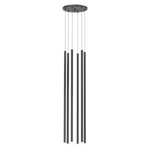 Light Chimes Satin Black 32-Inch 6-Light LED Pendant