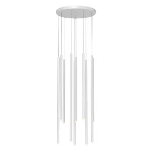 Light Chimes Satin White 15-Inch 10-Light Assorted LED Pendant
