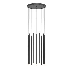 Light Chimes Satin Black 24-Inch 10-Light LED Pendant
