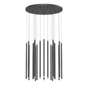 Light Chimes Satin Black 24-Inch 24-Light LED Pendant