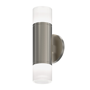 ALC Satin Nickel One-Light LED Wall Sconce with Etched Glass Trim