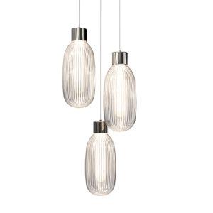 Friso Polished Nickel Three-Light LED Pendant