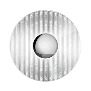 Meclisse Polished Chrome LED Sconce with Clear Glass