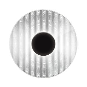 Meclisse Satin Black LED Sconce With Clear Glass