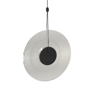 Meclisse Satin Black LED Pendant with Clear Glass