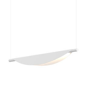Tela Satin White LED Pendant