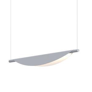 Tela Dove Gray LED Pendant