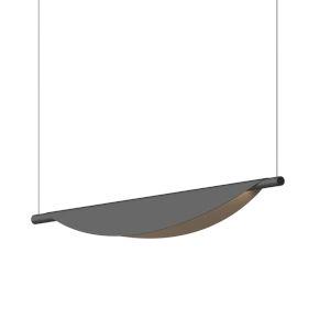 Tela Satin Black LED Pendant