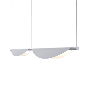 Tela Dove Gray Two-Light LED Double Pendant