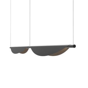 Tela Satin Black Two-Light LED Double Pendant