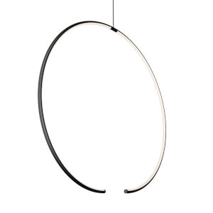 Torc Satin Black LED Pendant