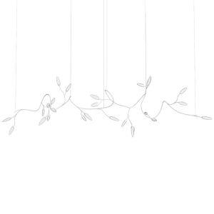 Vines Satin White 26-Light Large LED Pendant