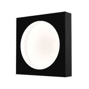 Vuoto Satin Black 10-Inch LED Sconce