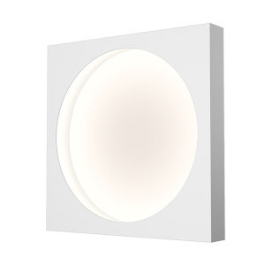 Vuoto Satin White 15-Inch LED Sconce