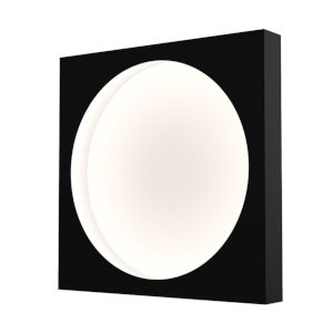 Vuoto Satin Black 15-Inch LED Sconce