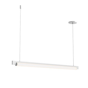 Keel Satin White 44-Inch LED Pendant