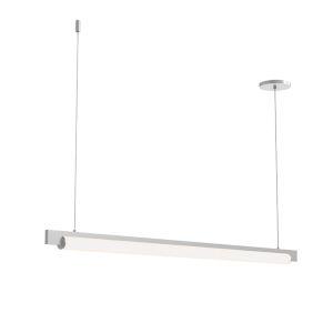 Keel Bright Satin Aluminum 44-Inch LED Pendant