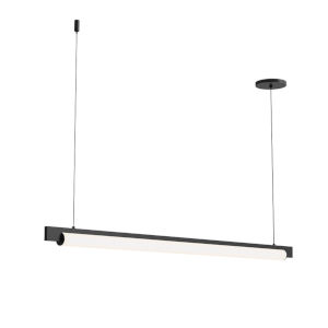 Keel Satin Black 44-Inch LED Pendant