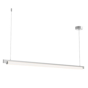 Keel Bright Satin Aluminum 60-Inch LED Pendant