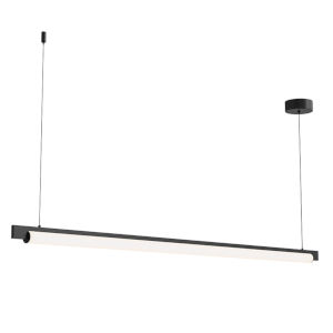 Keel Satin Black 60-Inch LED Pendant