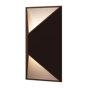 Prisma Textured Bronze LED 7-Inch Wall Sconce