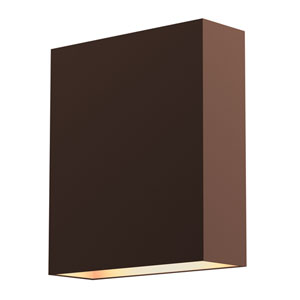 Flat Box Textured Bronze LED 6-Inch Wall Sconce