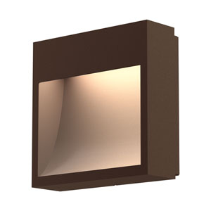 Square Curve Textured Bronze LED 7-Inch Wall Sconce