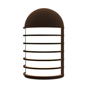 Lighthouse Textured Bronze Short LED Sconce