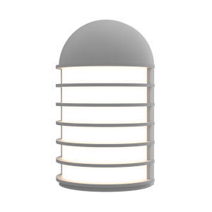Lighthouse Textured Gray Short LED Sconce
