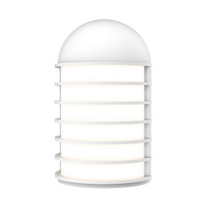 Lighthouse Textured White Short LED Sconce