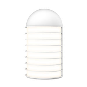 Lighthouse Textured White Big LED Sconce