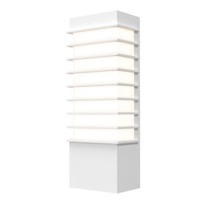 Tawa Textured White 13-Inch Slim LED Sconce