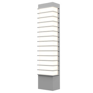 Tawa Textured Gray 21-Inch Slim LED Sconce
