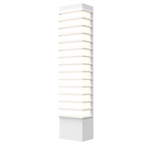 Tawa Textured White 21-Inch Slim LED Sconce