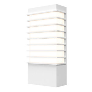 Tawa Textured White 13-Inch LED Sconce