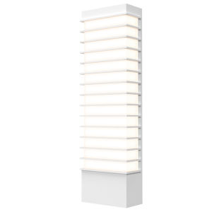 Tawa Textured White 21-Inch LED Sconce