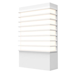 Tawa Textured White 13-Inch Wide LED Sconce